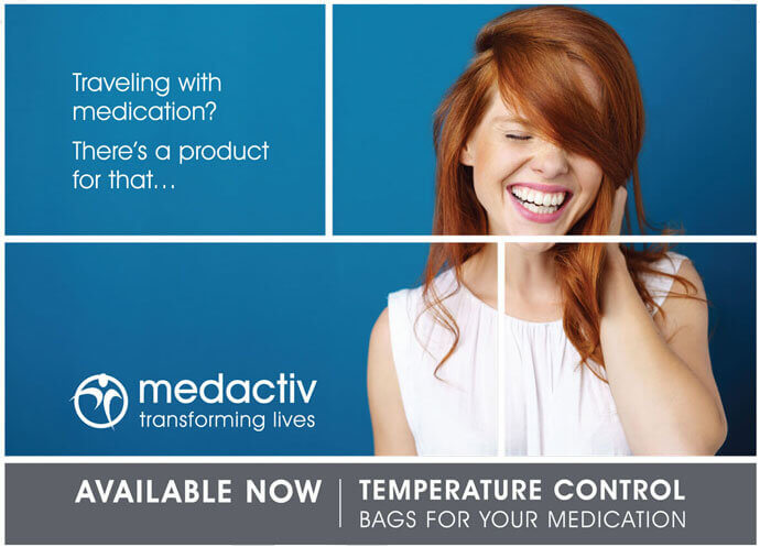 Travelling with medication - there is a product for that. Temperature control bags for your medication